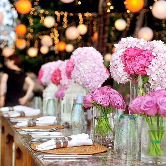 Esküvői dekoráció, kellékek
